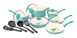 GreenLife 14 Piece Nonstick Ceramic Cookware Set