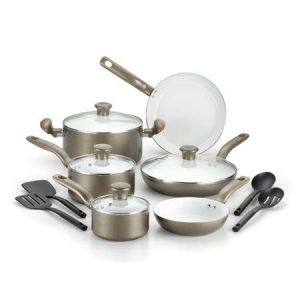 T-fal Initiatives Ceramic Nonstick 14 pieces Cookware Set