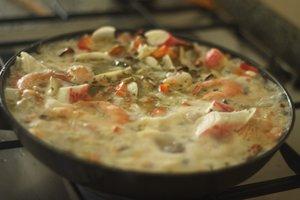 seafood rice preparation