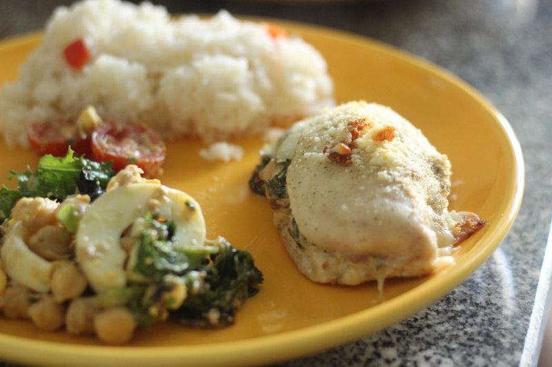 Spinach & Cheese Stuffed Chicken Breast