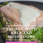 Healthy Salmon with Kale and Mushrooms