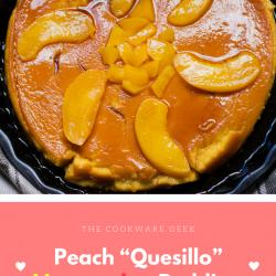 "Delicious Peach ""Quesillo"" Venezuelan Pudding"