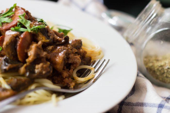 Spanish Chorizo and Beef pasta
