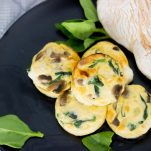 Healthy Egg Muffins with Spinach and Mushrooms