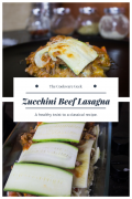 Zucchini Beef Lasagna