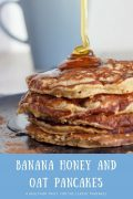 Banana Honey and Oat Pancakes