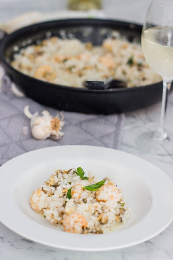 shrimp and clam risotto