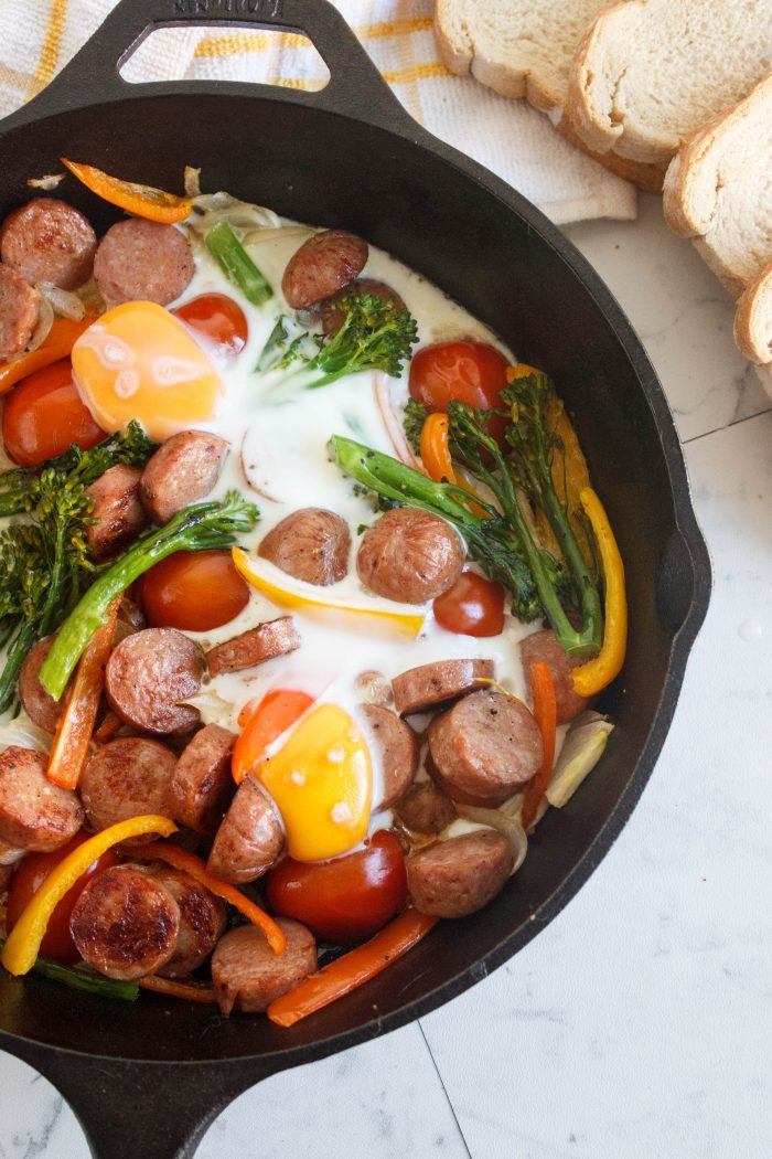 Breakfast Sausage And Veggies Skillet The Cookware Geek