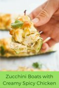Zucchini Boats with Creamy Spicy Chicken