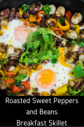 Roasted Sweet Peppers and Beans Breakfast Skillet