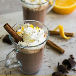 Cointreau orange hot chocolate