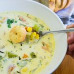 Shrimp, Corn and Bacon Chowder