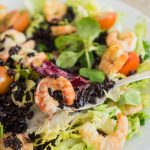 Black Rice and Shrimps Salad