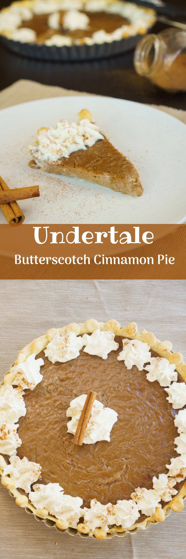 Undertale Butterscotch Cinnamon Pie - The Cookware Geek